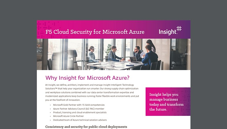 F5 Application Solutions for Microsoft Azure thumbnail