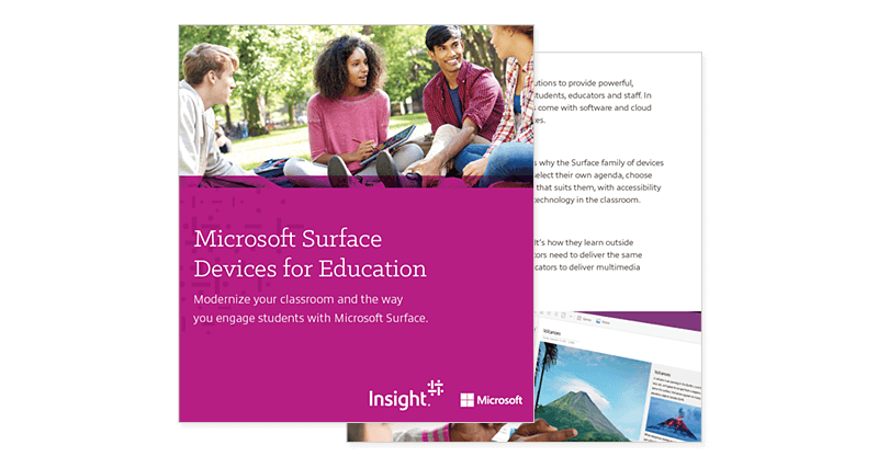 Microsoft Surface Devices for Education cover