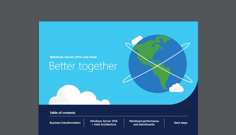 Windows Server 2016 and Intel: Better together solution brief thumbnail