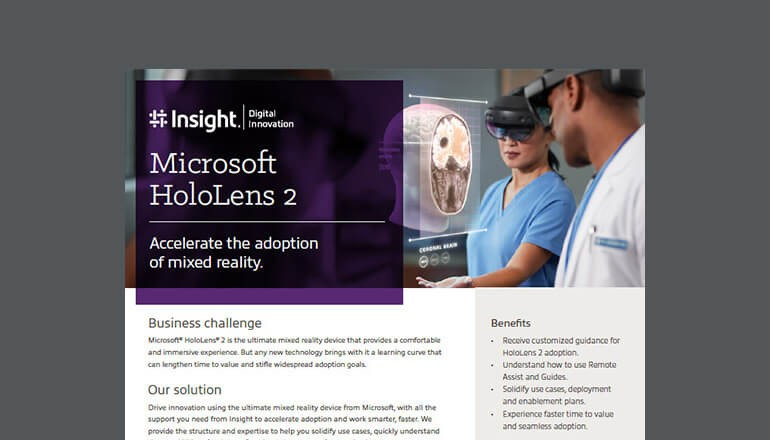 Microsoft HoloLens 2: Accelerate the adoption of mixed reality thumbnail